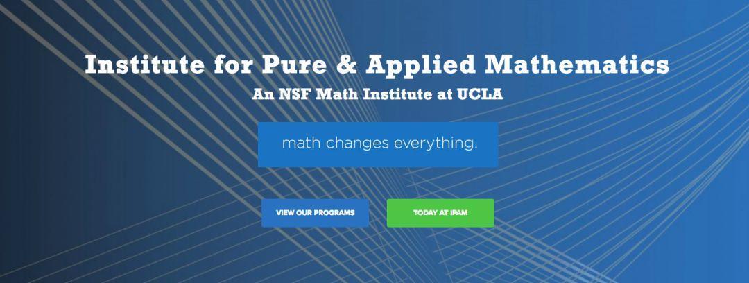 会议消息| UCLA数学研究所长期交流项目:物理与机器学习-集智俱乐部