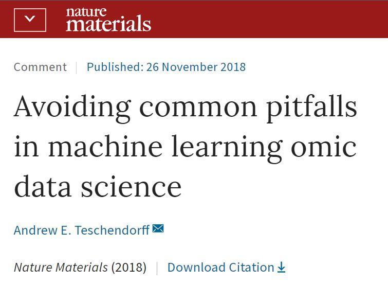 Nature 子刊:机器学习高维数据分析中那些一定可以避开的坑!-集智俱乐部