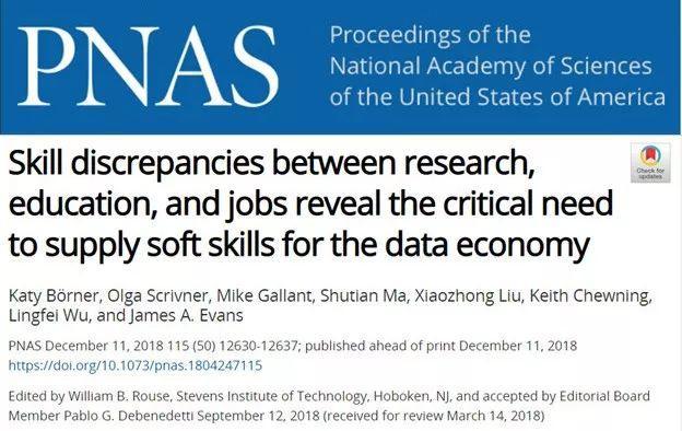 集智科学家PNAS发文:为什么未来社会我们更需要这些软技能-集智俱乐部