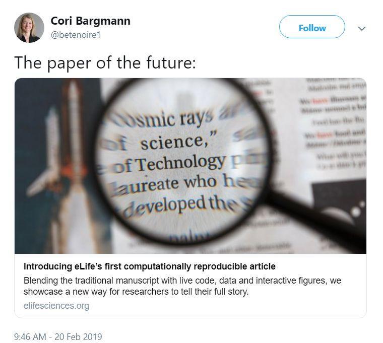 Paper过时了?eLife发布交互式论文,线上就能复现结果-集智俱乐部