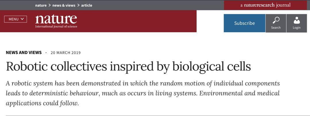 Nature封面突破性研究:新型仿生群体机器人问世-集智俱乐部