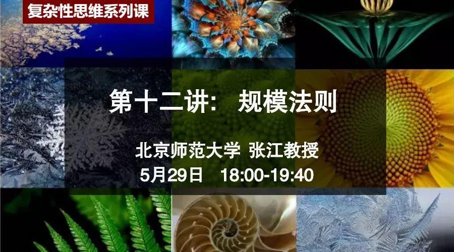 今晚6点直播:复杂系统思维观——规模法则 | 北师大张江公开课-集智俱乐部