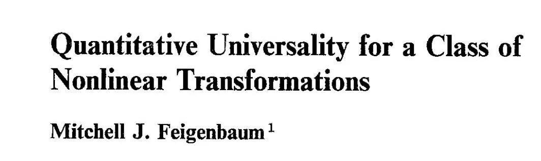 费根鲍姆常数和混沌系统中的周期性-集智俱乐部